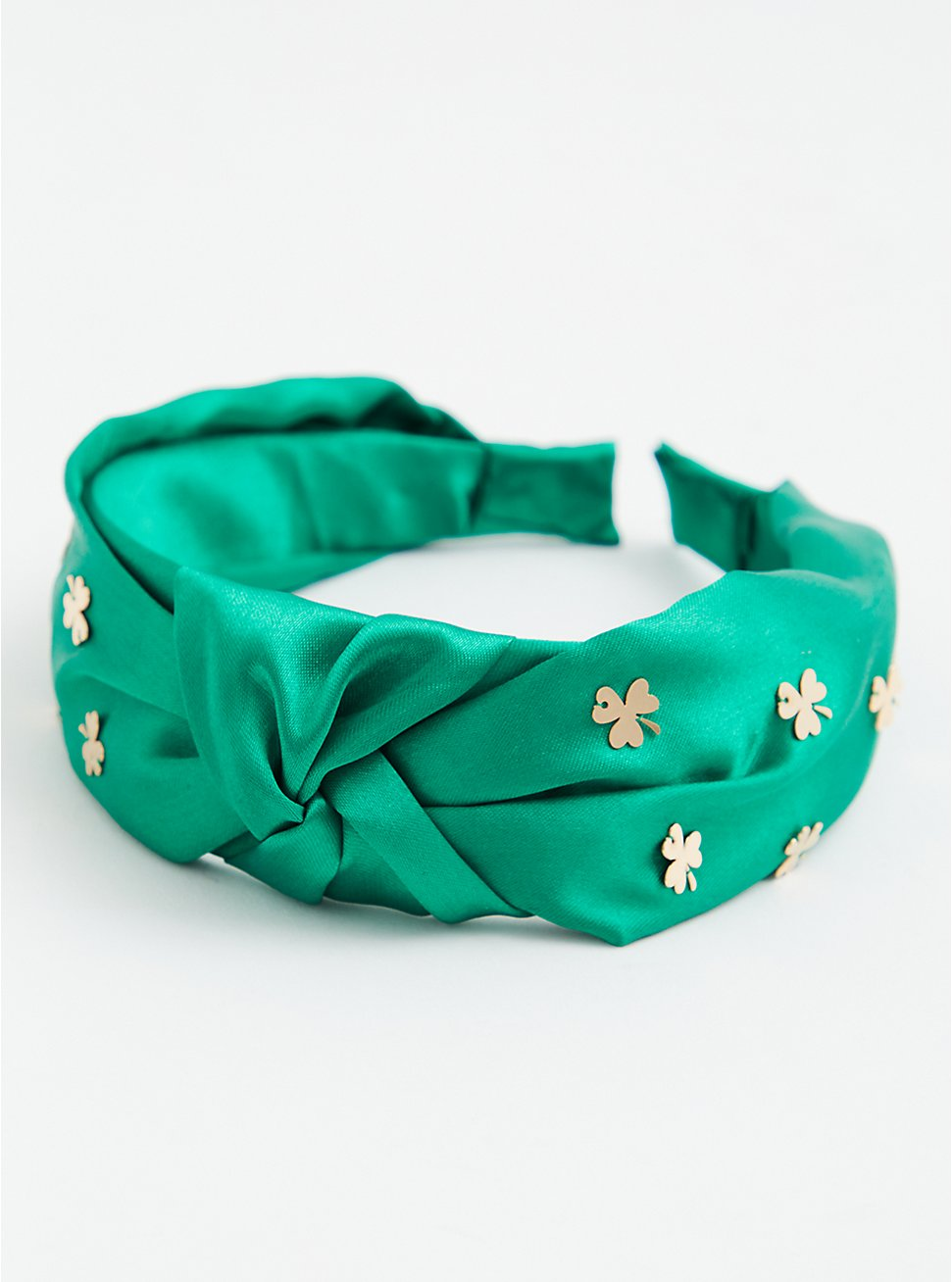 Green & Gold-Tone Charm Knotted Headband, , hi-res