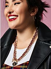 Betsey Johnson Plaid Heart Locket Necklace, , hi-res