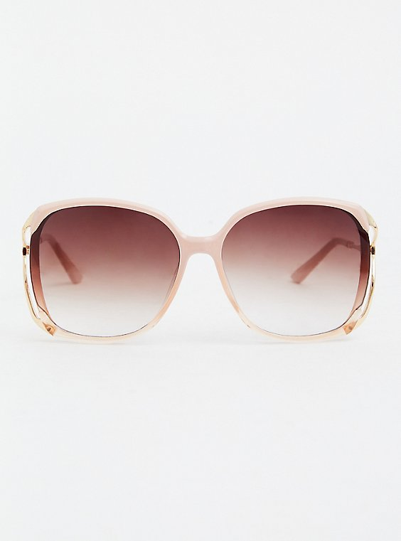 Light Pink Oversized Square Sunglasses, , hi-res