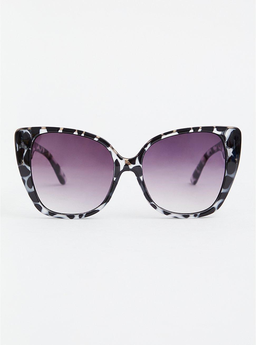 Black Tortoiseshell Cat Eye Sunglasses, , hi-res