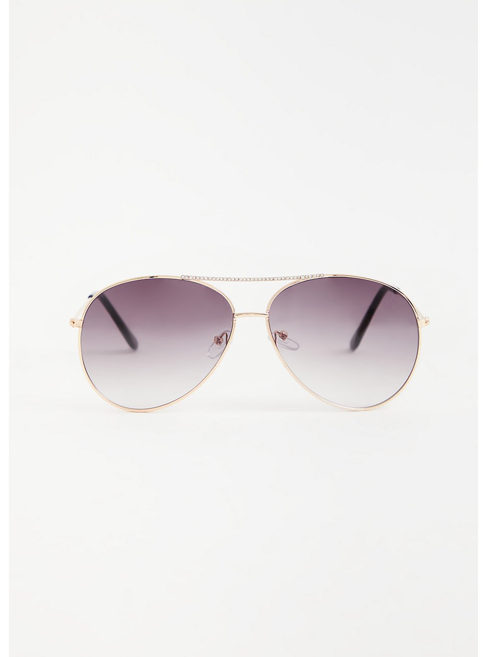 Gold-Tone & Black Aviator Sunglasses, , hi-res