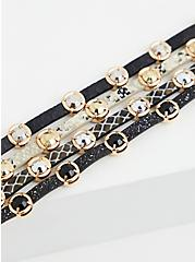 Black & White Stud Magnetic Bracelet, MULTI, alternate