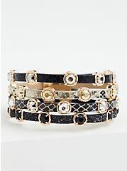 Black & White Stud Magnetic Bracelet, MULTI, hi-res