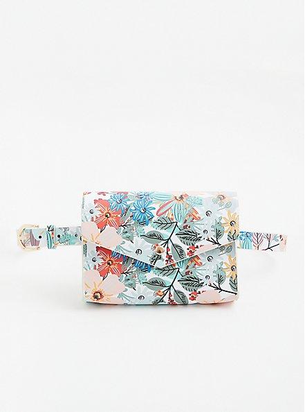 White Floral Belt Bag, MULTI, hi-res