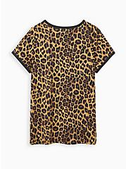 Classic Fit Ringer Tee - Blondie Leopard, LEOPARD - BROWN, alternate