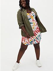 Super Soft Multi Tie-Dye T-Shirt Dress, TIE DYE, alternate