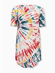 Super Soft Multi Tie-Dye T-Shirt Dress, TIE DYE, hi-res