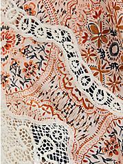 Multi Mixed Print & Crochet Ruana, , alternate