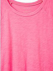Raglan Tee - Heritage Cotton Neon Pink, PINK GLO, alternate