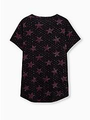 Vintage Tee - Heritage Cotton Stars Black, DEEP BLACK, alternate
