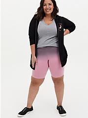 Pebble Grey & Light Pink Dip-Dye Bike Short, MULTI, alternate