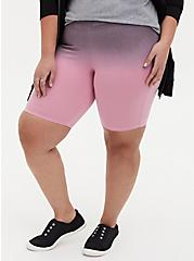 Pebble Grey & Light Pink Dip-Dye Bike Short, MULTI, hi-res