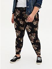 Premium Legging - Floral Black, MULTI, alternate