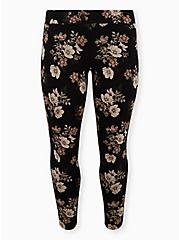 Premium Legging - Floral Black, MULTI, hi-res