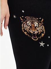 Crop Premium Legging - Tigers & Stars Black , MULTI, alternate