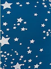 Blue Shooting Stars Microfiber & Lace Hipster Panty , SHOOTING STARS- BLUE, alternate