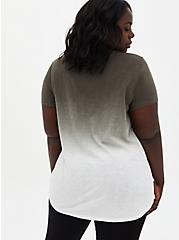 Pocket Tunic - Heritage Slub Dip-Dye Olive Green , MULTI, alternate