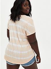 Pocket Tunic - Heritage Slub Stripe Tie-Dye Light Peach Pink, MULTI, alternate