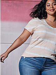 Pocket Tunic - Heritage Slub Stripe Tie-Dye Light Peach Pink, MULTI, hi-res