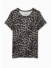 Perfect Tee - Super Soft Leopard Grey, LEOPARD, hi-res