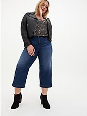 Crop High Rise Wide Leg Jean - Vintage Stretch Medium Wash, PEACE OUT, alternate