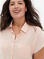 Light Pink Challis Dolman Blouse, PALE BLUSH, alternate