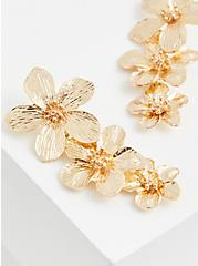 Gold-Tone Floral Statement Earrings, , hi-res