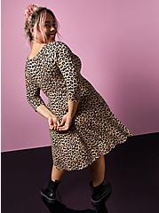 Betsey Johnson Leopard Ponte Mini Skater Dress, LEOPARD, alternate