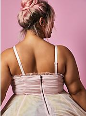 Betsey Johnson Rainbow Tulle Strapless Midi Dress , MULTI, alternate