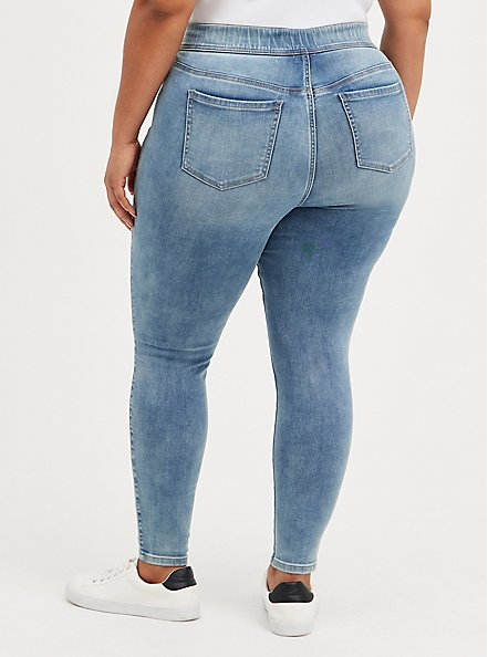 Lean Jean - Super Soft Medium Wash , TYPHOON, alternate