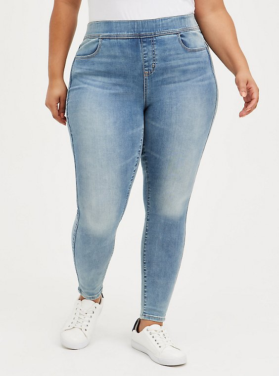 Lean Jean - Super Soft Medium Wash , TYPHOON, hi-res