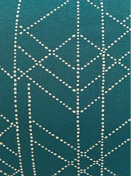 Super Soft Green Geometric Shirt Dress, GEOMETRIC, alternate