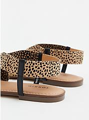 Leopard Stretch Band Sandal (WW), , alternate