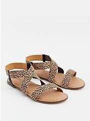 Leopard Stretch Band Sandal (WW), , hi-res