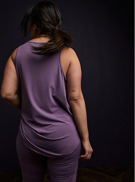 Grape Purple Perforated Jersey Wicking Active Tank , GRAPE, alternate
