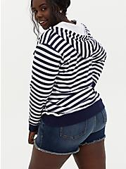 Navy & White Stripe Dip-Dye Hoodie, MULTI, alternate