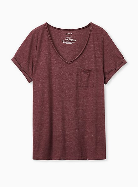 Pocket Tee - Triblend Jersey Burgundy Purple, MULTI, hi-res
