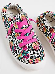 Betsey Johnson Riley - Leopard Floral Ruched Sneaker (WW), ANIMAL, alternate