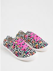 Betsey Johnson Riley - Leopard Floral Ruched Sneaker (WW), ANIMAL, hi-res
