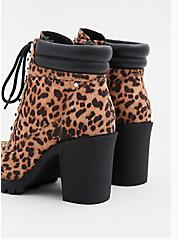 Leopard Faux Suede Lace-Up Hiker Boot (WW), ANIMAL, alternate
