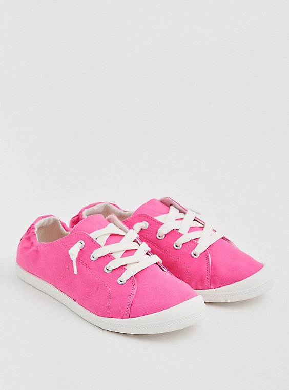 Riley - Hot Pink Ruched Sneaker (WW), , hi-res