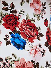 Floral Cold Shoulder Swim Tankini Top , MULTI, alternate