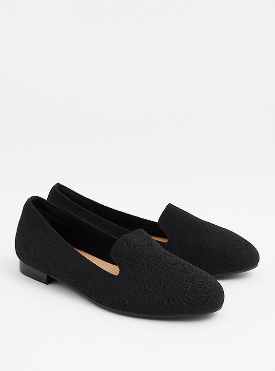 Black Stretch Knit Loafer (WW), , hi-res