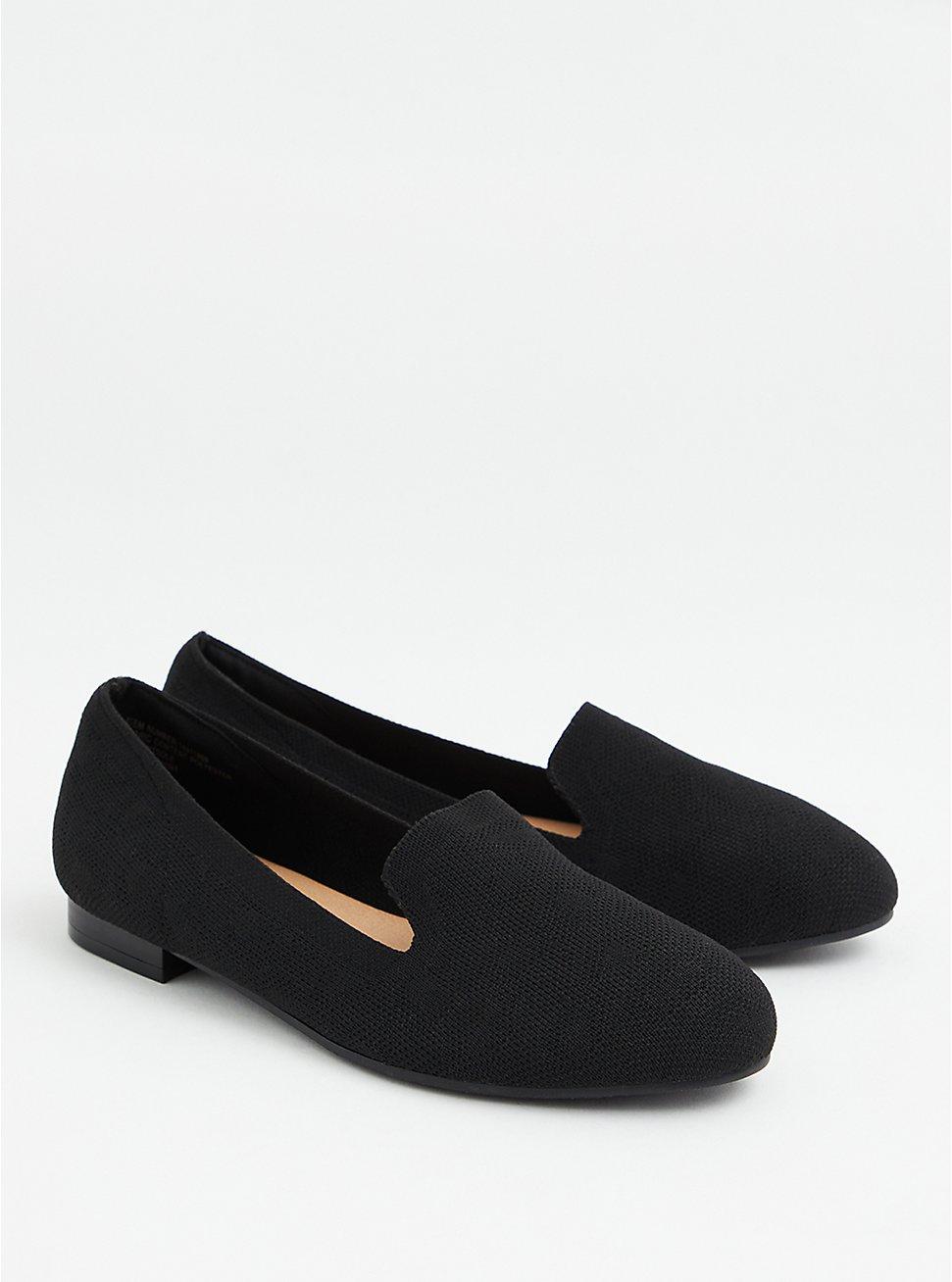 Black Stretch Knit Loafer (WW), BLACK, hi-res
