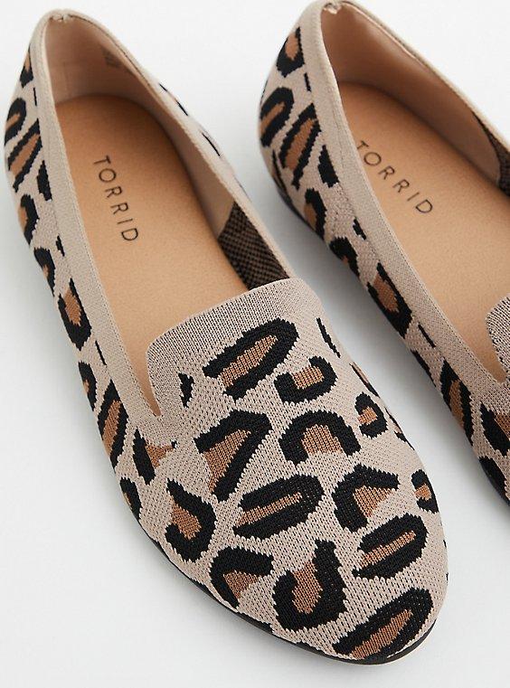 Leopard Stretch Knit Loafer (WW), , hi-res
