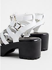 White Faux Leather Gladiator Heel (WW), WHITE, alternate