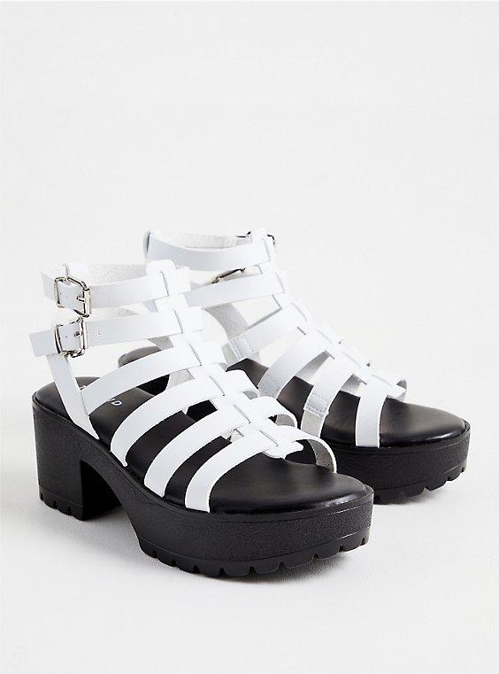 White Faux Leather Gladiator Heel (WW), WHITE, hi-res