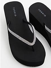 Black Rhinestone Eva Platform Sandal, BLACK, alternate