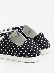 Riley - Black Polka Dot Ruched Sneaker, BLACK, alternate