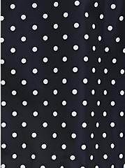 Black Polka Dot Nylon Rain Jacket, DOT -BLACK, alternate